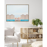 Pastel Umbrella Canvas Art Print