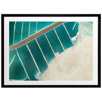 Teal Street Framed Art Print