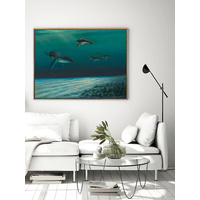 Whales Canvas Art Print
