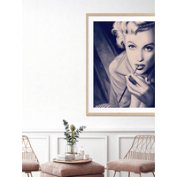 Marilyn Blue Poster