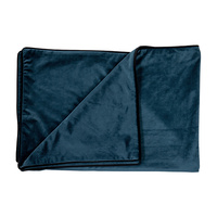 Indigo Blue Velvet Throw