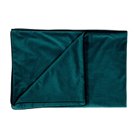 Peacock Teal Velvet Throw
