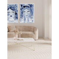 Creative Indigo Canvas Art Print
