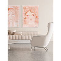Expressive Peach Canvas Art Print