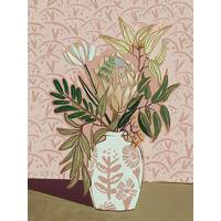 Protea Posy Canvas Art Print