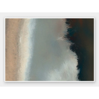Blurred Coast Rolled Fine Art Print