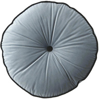 Grey Mist Circle Velvet Cushion