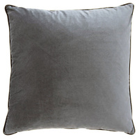 Steel Grey Velvet Oversize Cushion