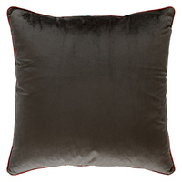 Cedarwood Brown Oversize Velvet Cushion