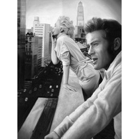James and Marilyn Mono Poster
