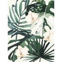 Tropical Leaves Green I Poster