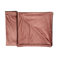 Dusty Rose Velvet Throw